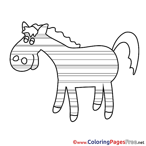 Printable Coloring Sheets Horse download