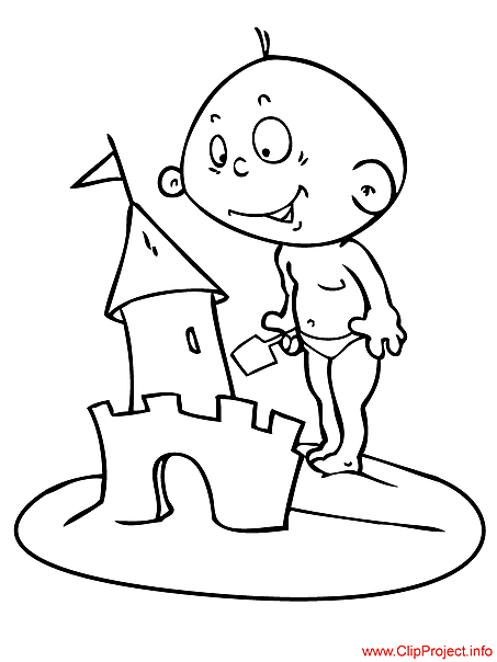 Baby coloring page for free