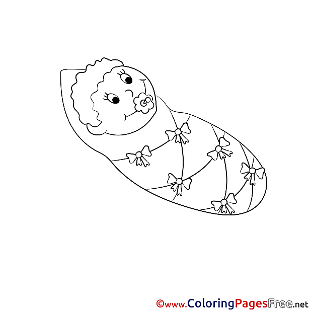 Baby for Children free Coloring Pages