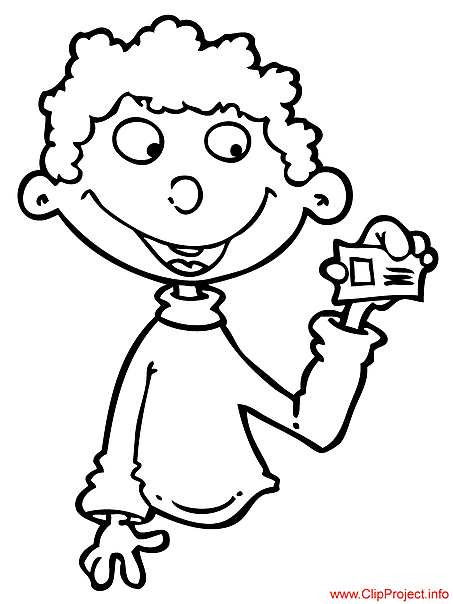 Cartoon child image to color