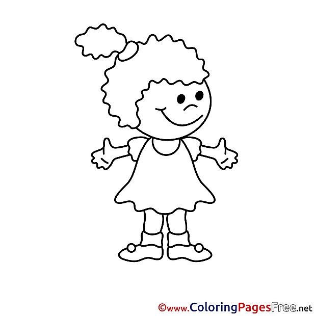 Girl for free Coloring Pages download
