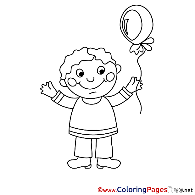 Kid for free Coloring Pages download