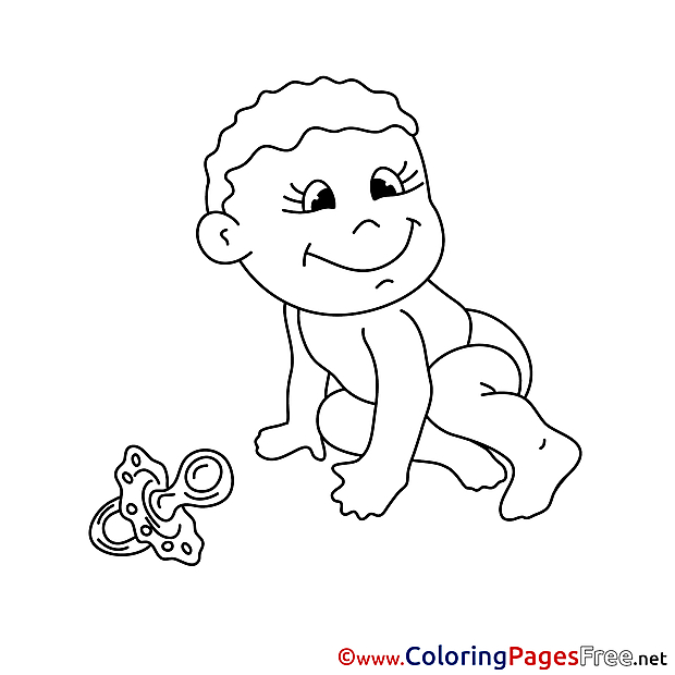 Soother Coloring Pages for free