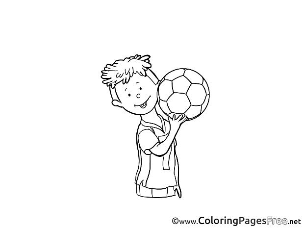 Football Colouring Sheet download free Boy
