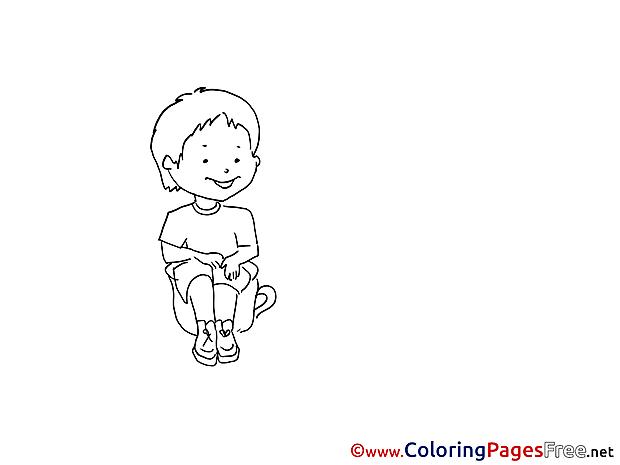 Toilet printable Coloring Sheets Kindergarten download