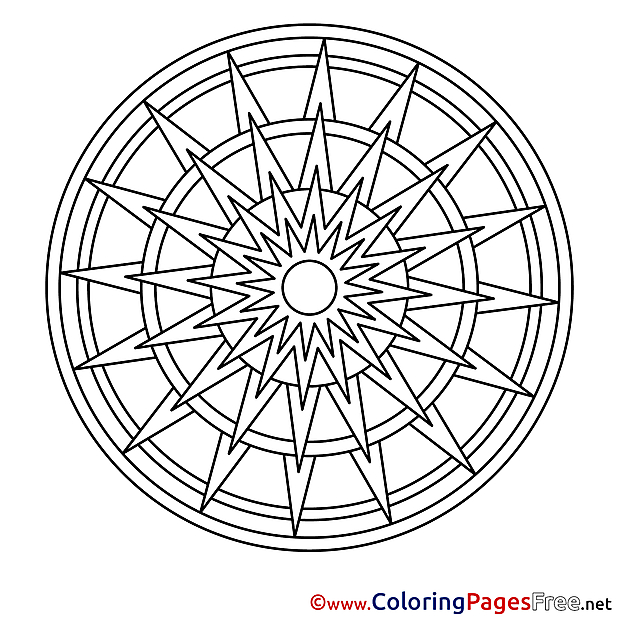 Clipart Mandala Colouring Sheet free