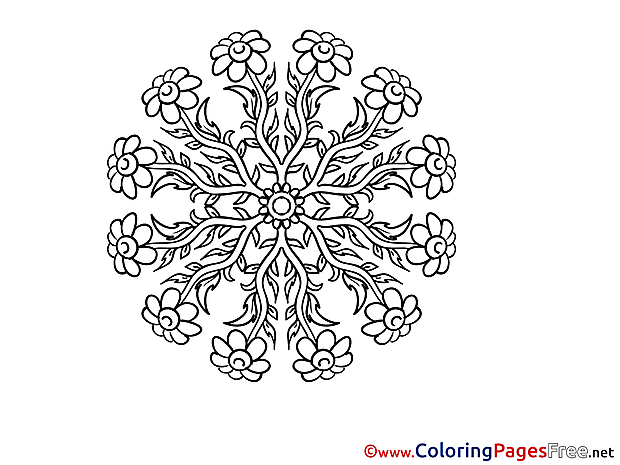Coloring Sheets Mandala free