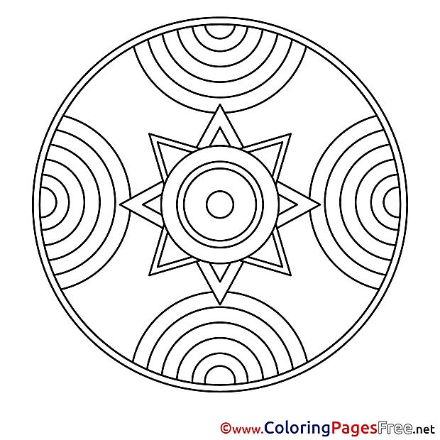 Colouring Pages Mandala