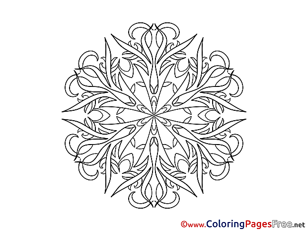 Colouring Sheet download Mandala