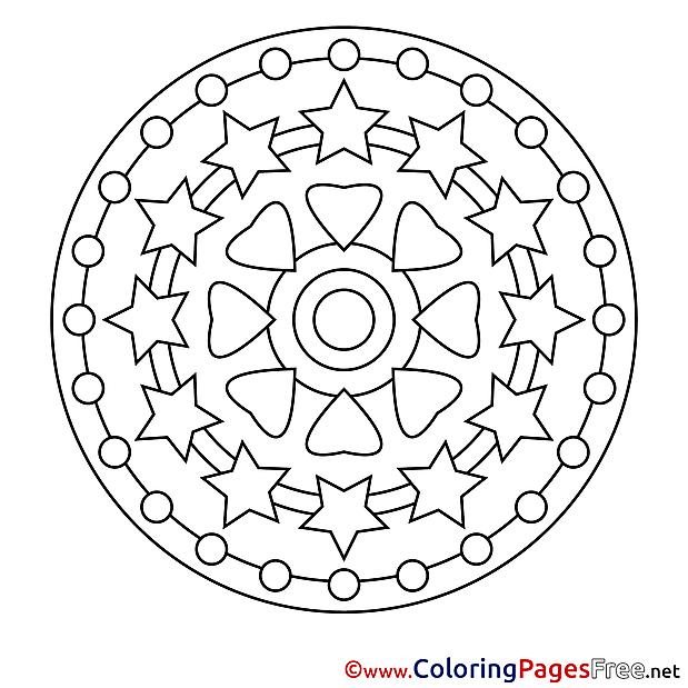Cosmos Kids Mandala Coloring Pages