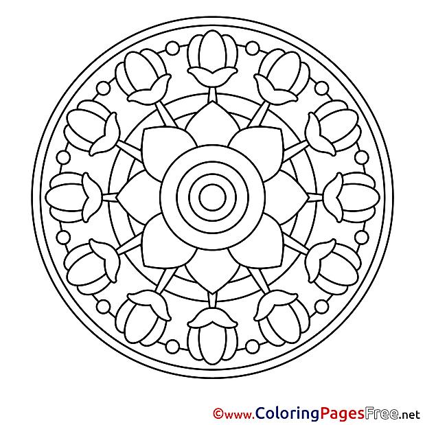 Image for Kids Mandala Colouring Page