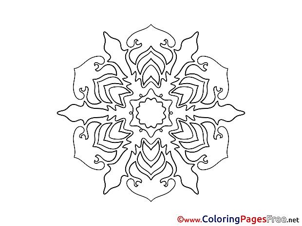 Indian Coloring Pages Mandala