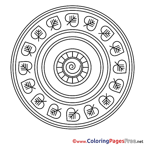 Indian for Kids Mandala Colouring Page