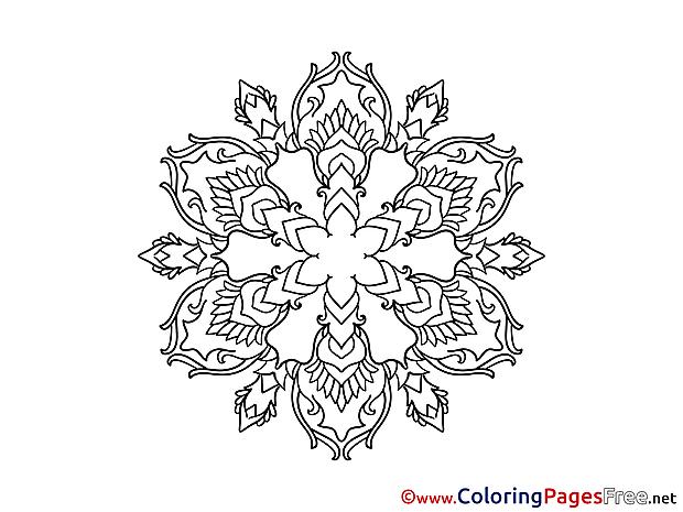 Mandala Coloring Pages download