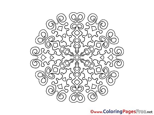 Mandala Colouring Sheet free