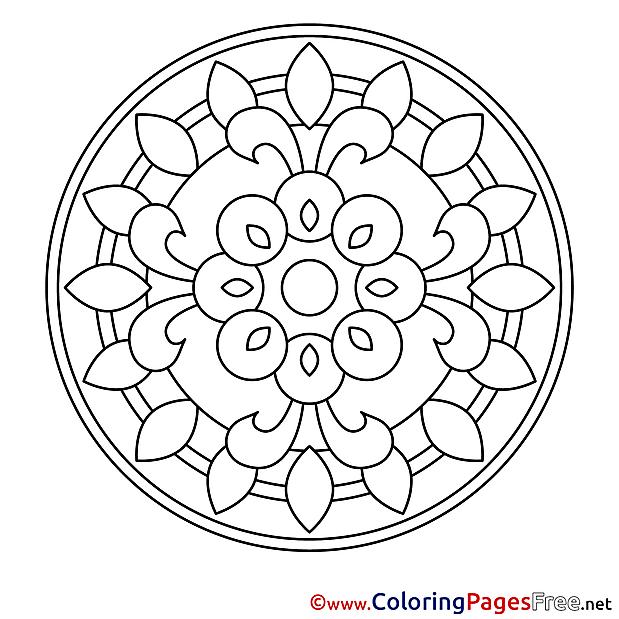 Symbol printable Mandala Coloring Sheets