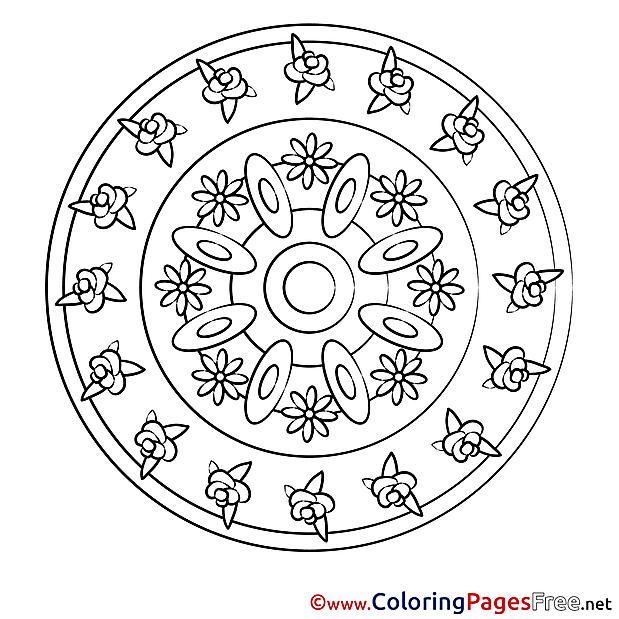 Universe Mandala Coloring Pages download