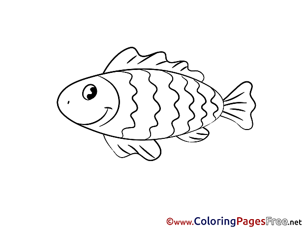 Kids free Coloring Page Fish