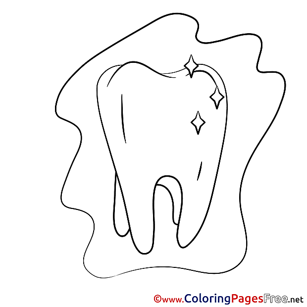Tooth Medicine download printable Coloring Pages