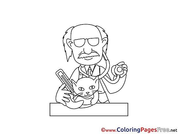 Vet Colouring Page printable free