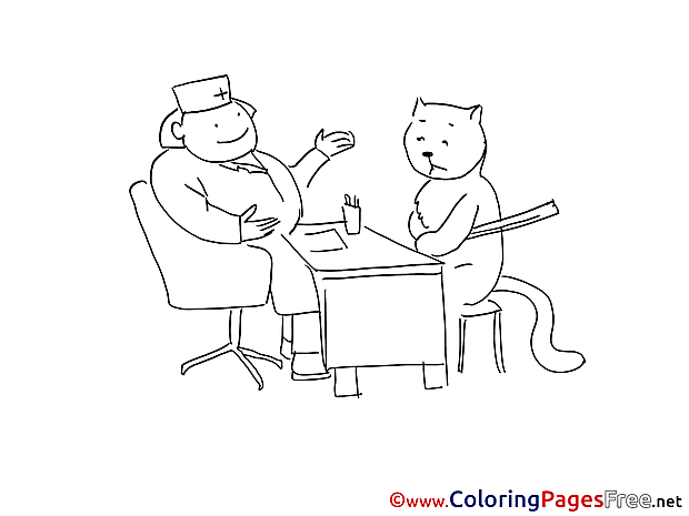 Vet download printable Coloring Pages