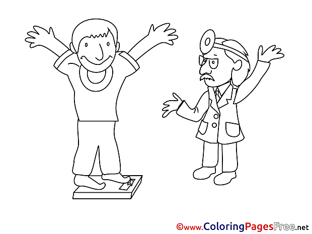 Weight Doctor for Children free Coloring Pages