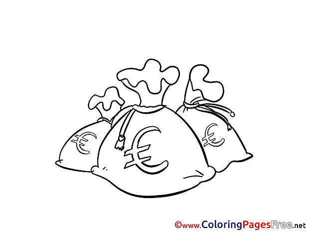 Euro Money Coloring Pages for free