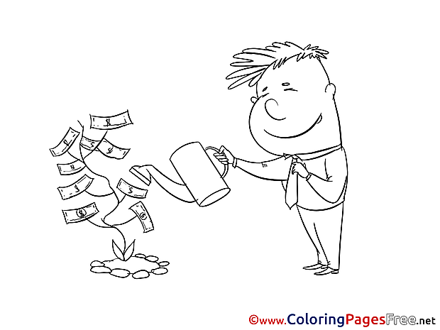 Money Tree Children Coloring Pages free