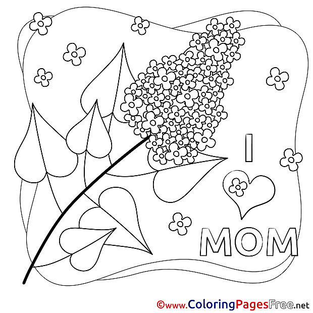 Mimosa Flower Kids Mother's Day Coloring Pages