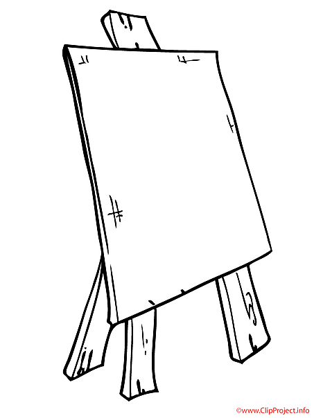 Easel coloring picture for free