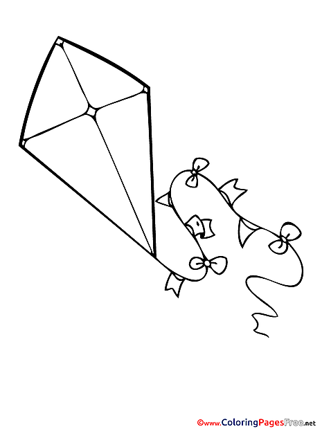 Kite Kids download Coloring Pages