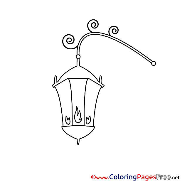 Lantern for Kids printable Colouring Page