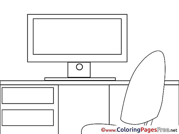 Monitor Kids download Coloring Pages