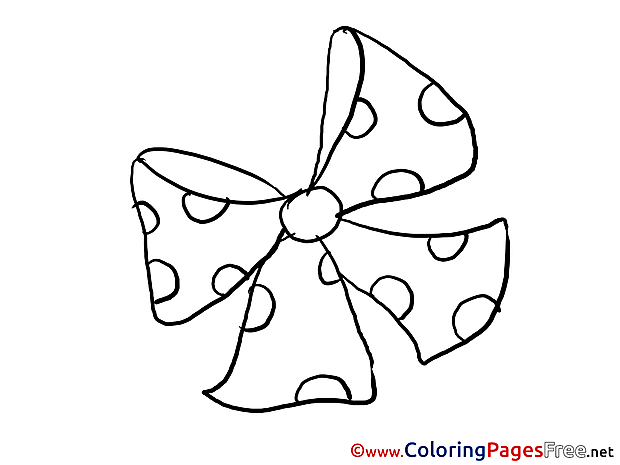Ribbon Children Coloring Pages free