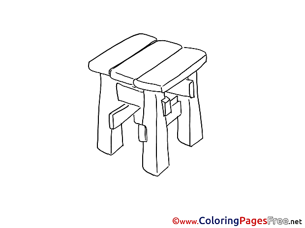 Stool Coloring Sheets download free