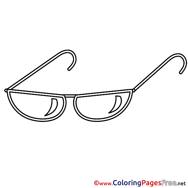 Sunglasses download Colouring Sheet free