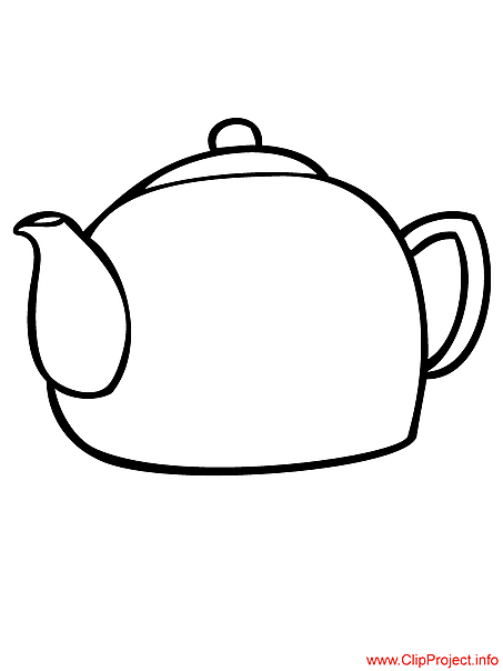 Teapot coloring page for free