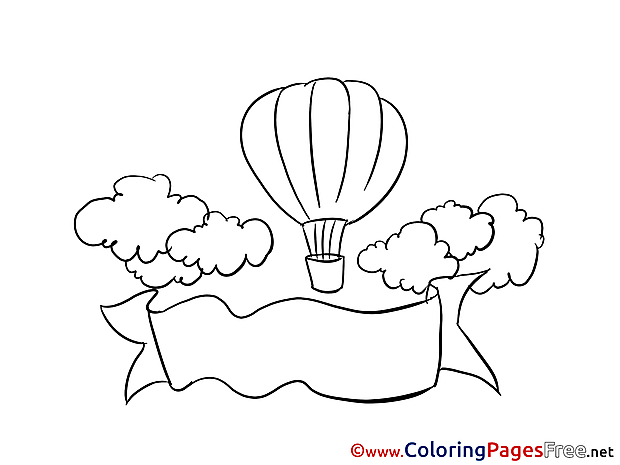 Balloon Office free Colouring Page download