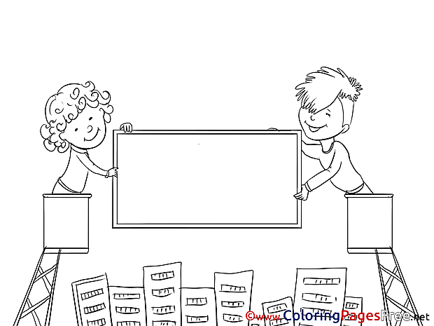Billboard Kids Coloring Sheets download free