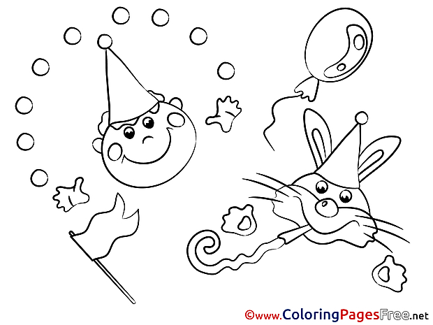 Carnival Colouring Sheet Party download free
