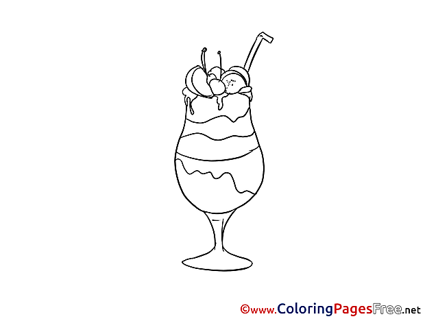 Cocktail for Kids printable  Party Colouring Page