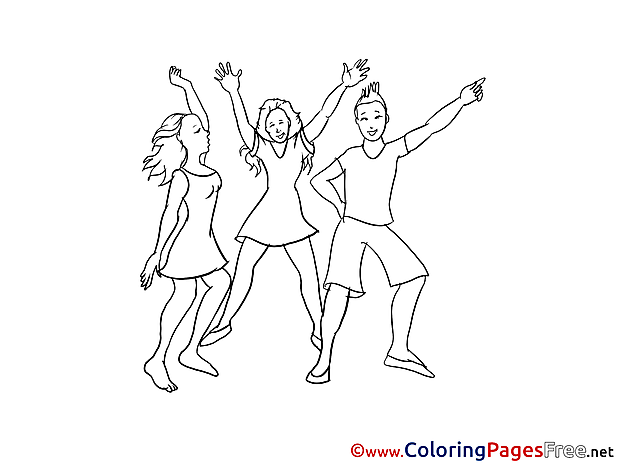 Disco download printable Party Coloring Pages