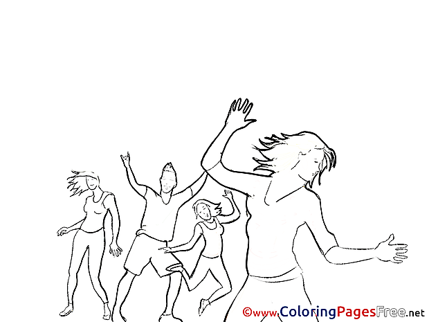 Disco free Colouring Page download