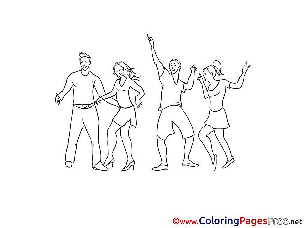 Disco printable Coloring Sheets download
