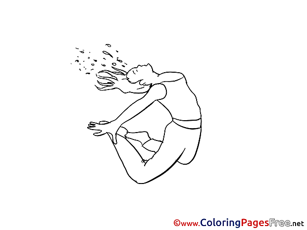 Girl Party printable Coloring Sheets download