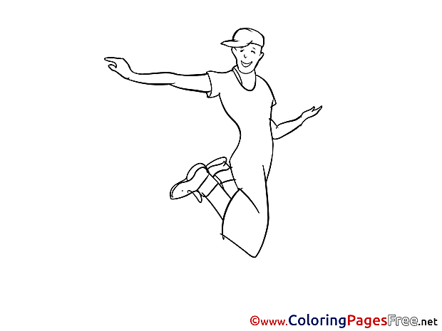 Hip-Hop Dance for Children Party free Coloring Pages