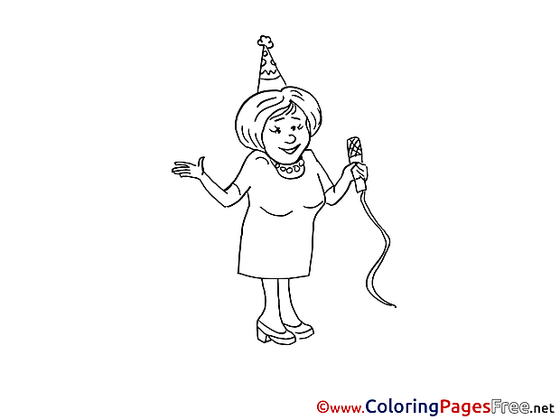 Karaoke Children Coloring Pages free Party