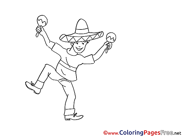 Mexican Coloring Sheets Party download free