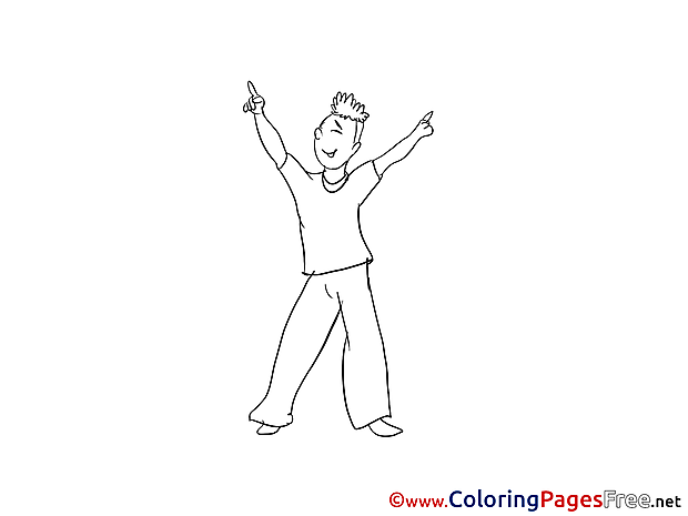 Music Dance printable Coloring Sheets download