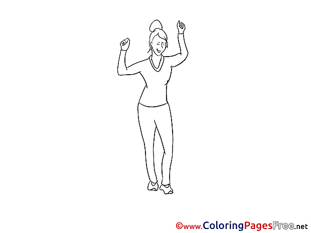 Woman Party Coloring Pages for free